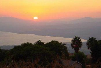 Il lago di Tiberiade in Israele