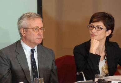 Giulio Tremonti e Mariastella Gelmini (Imagoeconomica)