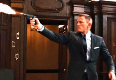 Una scena di un film con l'agente 007