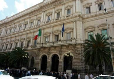 Palazzo Koch, sede della Banca d'Italia (Infophoto)