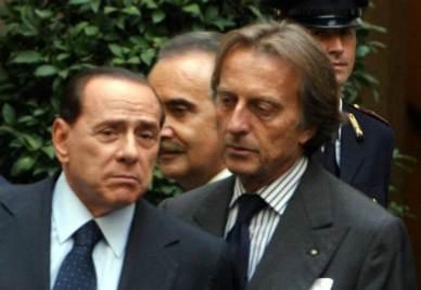 Silvio Berlusconi e Luca Cordero di Montezemolo (Infophoto)
