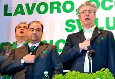 Belsito e Bossi (Infophoto)