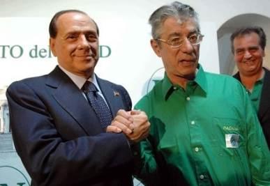 Bossi e Berlusconi (Infophoto)