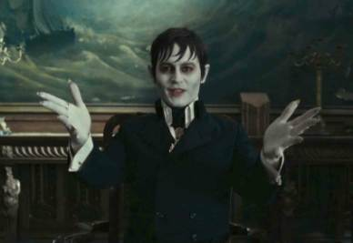 Una scena del film Dark shadows (Infophoto)