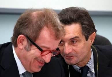 Attilio Fontana e Roberto Maroni (Infophoto)