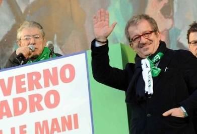Umberto Bossi e Roberto Maroni (Infophoto)
