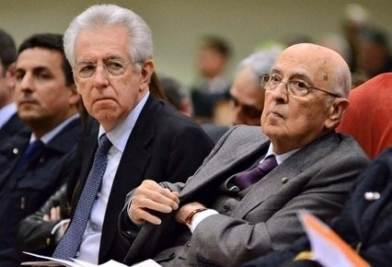 Monti e Napolitano (Infophoto)
