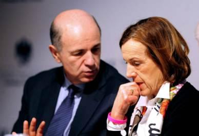 Corrado Passera ed Elsa Fornero (Infophoto)