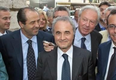 Di Pietro, Parisi e Segni (Infophoto)