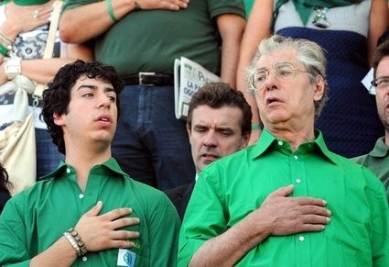 Umberto e Renzo Bossi (Infophoto)