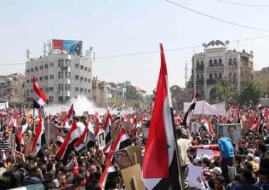 Piazza siriana (Infophoto)