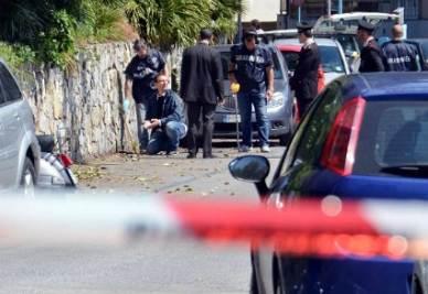 Il luogo dove Roberto Adinolfi è stato colpito (InfoPhoto)