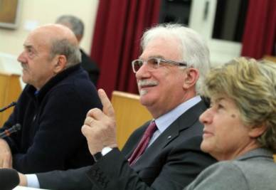I tre leader sindacali (Infophoto)