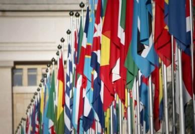 Ingresso della sede Onu (InfoPhoto)