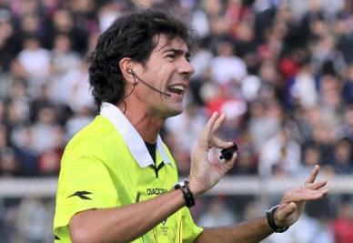 L'arbitro Mauro Bergonzi, 40 anni, protagonista dello sfortunato episodio di Udinese-Lazio (INFOPHOTO)