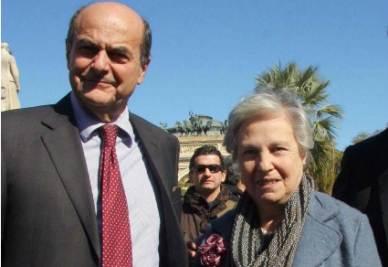 Pier Luigi Bersani e Rita Borsellino (InfoPhoto)