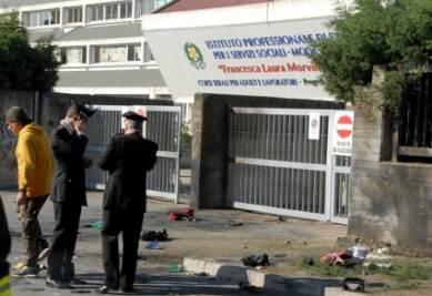 Il luogo dell'attentato, foto Infophoto