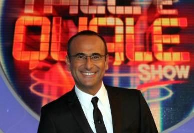 Carlo Conti conduce Tale e quale Show (InfoPhoto)