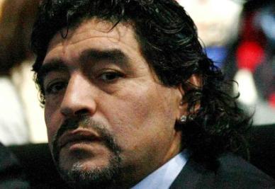 Maradona, attualmente sulla panchina dell'Al Wasl (Infophoto)