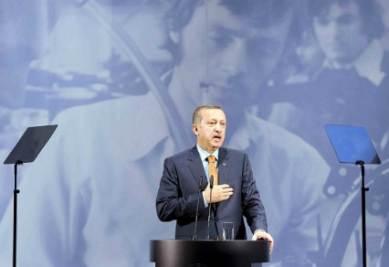 Il primo ministro turco Erdogan, foto Infophoto