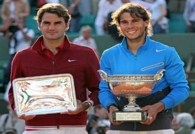 Roger Federer e Rafael Nadal (Infophoto)