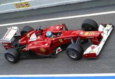 La Ferrari in azione (Infophoto)