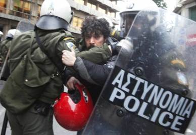 Protests in Greece   (Infophoto)