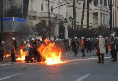Clashes in Greece  (Infophoto)