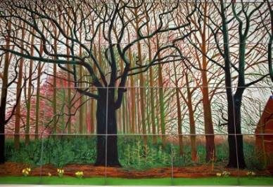David Hockney, Bigger trees near water, 2007 (Infophoto)