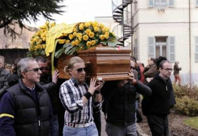 I funerali di Franco Lamolinara, foto Infophoto