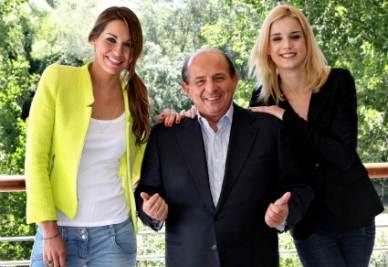 Magalli con Elisa Silvestrin e Deborah Salvalaggio