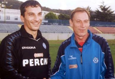 Francesco Mancini con Zdenek Zeman (InfoPhoto)