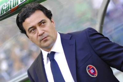 Massimo Ficcadenti, appena richiamato da Cellino (Infophoto)
