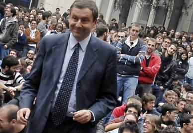 Il ministro Profumo, da rettore, al Politecnico di Torino (InfoPhoto)