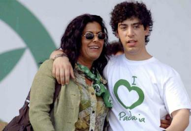 Renzo Bossi con Rosi Mauro, foto Infophoto