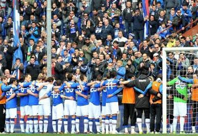 La Sampdoria chiede aiuto ai suoi tifosi (INFOPHOTO)