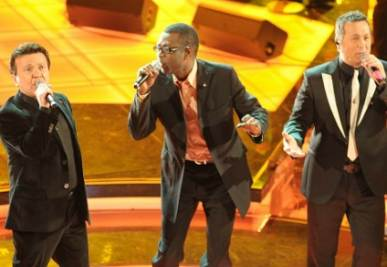 Youssou Ndour a Sanremo nel 2009, foto Infophoto