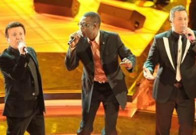 Youssou Ndour a Sanremo nel 2009, foto Infophoto
