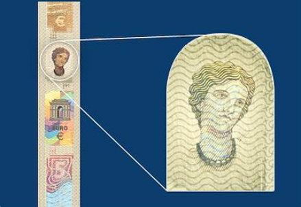Il ritratto di Europa nella nuova banconota da 5 euro