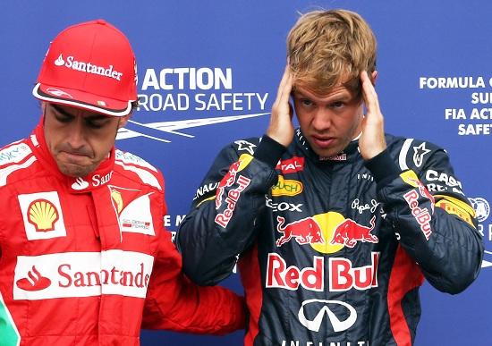 Fernando Alonso e Sebastian Vettel: oggi il Gran Premio d'Italia a Monza (Infophoto)