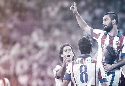 L'Atletico Madrid esulta per la vittoria contro il Real Madrid