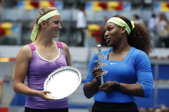 Victoria Azarenka, 24 anni, e Serena Williams, 31 (Infophoto)
