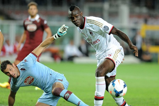 Balotelli, attaccante Milan (Infophoto)