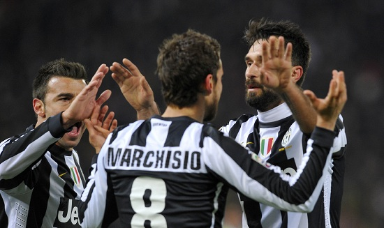 Marchisio e Vucinic (Foto: Infophoto)