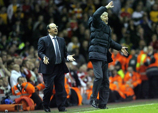 Rafa Benitez e Arsene Wenger (Infophoto)