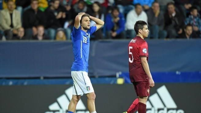 La delusione di Domenico Berardi (da facebook.com/under21)