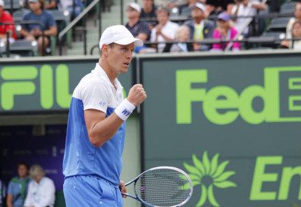 Tomas Berdych, 28 anni, finalista a Miami nel 2010