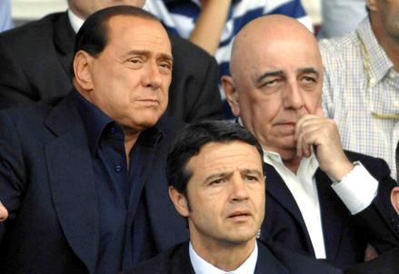 Silvio Berlusconi e Adriano Galliani (Infophoto)