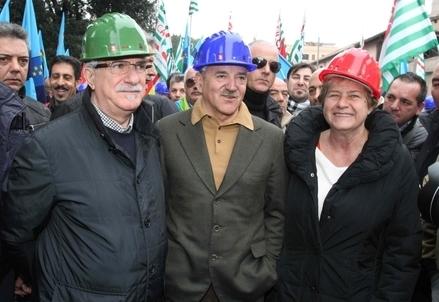 Raffaele Bonanni, Luigi Angeletti e Susanna Camusso (Infophoto)