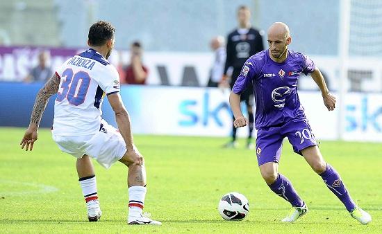 Borja Valero, centrocampista della Fiorentina (Infophoto)